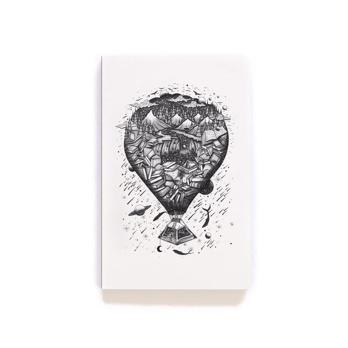 Hot Air Balloon Softcover Notebook