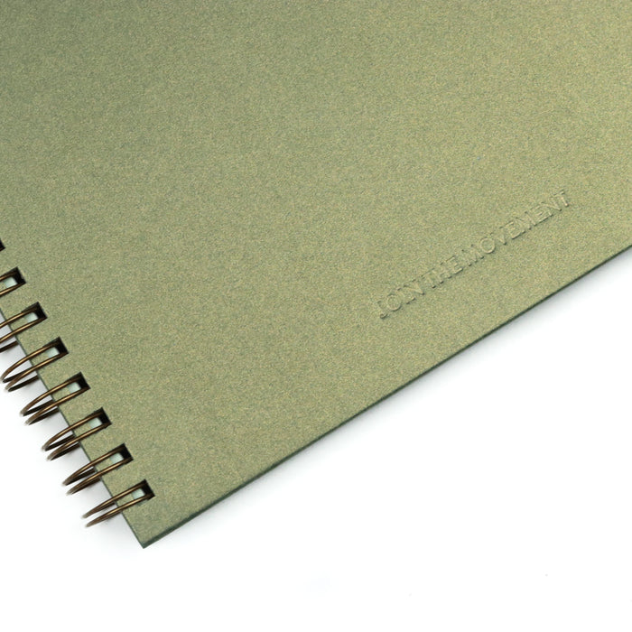 Olive Join the Movement Spiral Hardcover Notebook