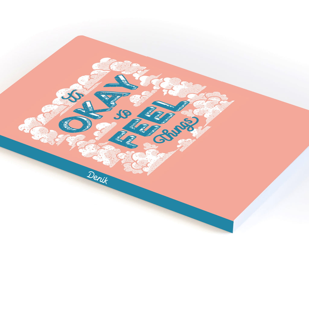 It's Okay to Feel Things Softcover Notebook