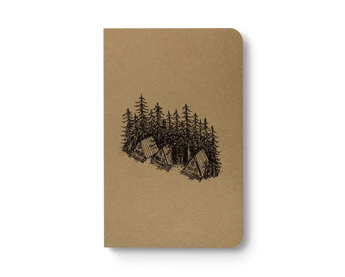 Pine Cabins - Kraft Layflat Notebook