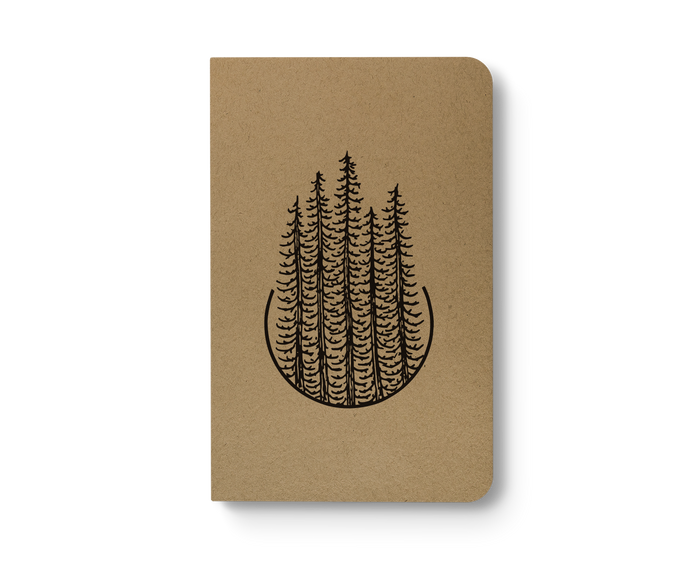 Pines - Kraft Layflat Notebook