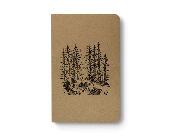 Canoe Camp - Kraft Layflat Notebook