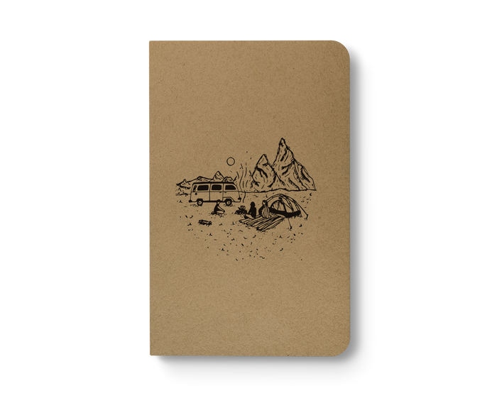 Moonlight Camp - Kraft Layflat Notebook