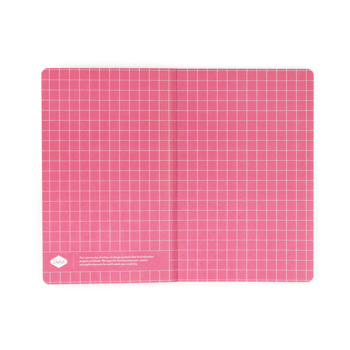 Pink Ideas + Such Layflat Notebook