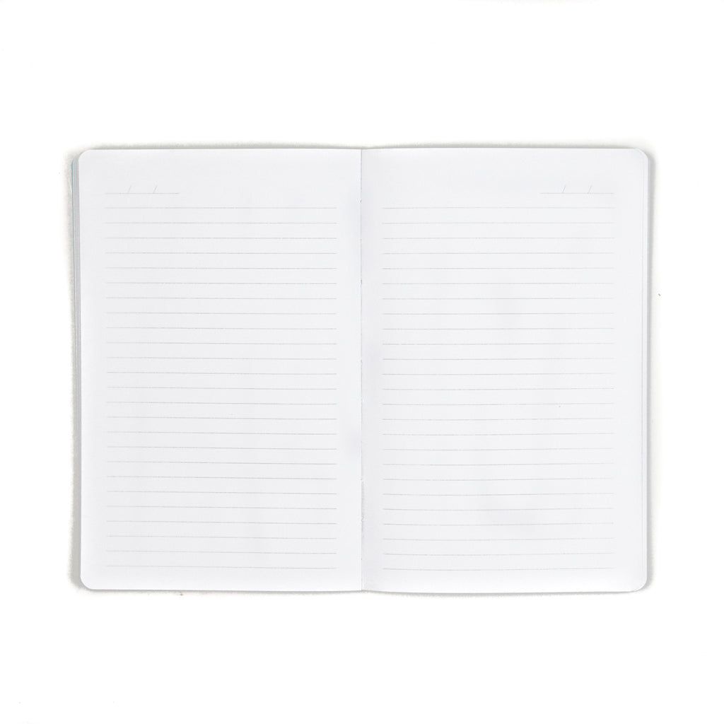 Silver Bright Ideas Layflat Notebook