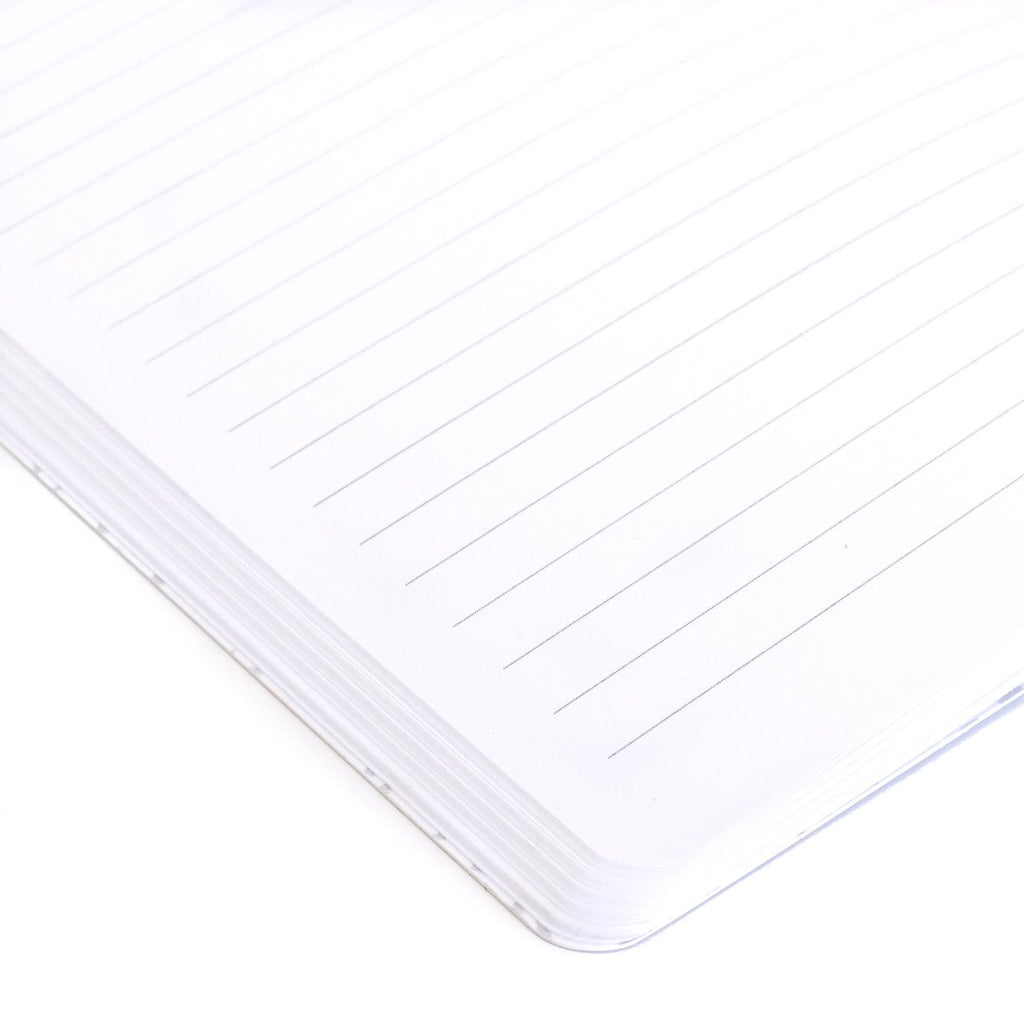 Fir Cabin Softcover Notebook lined page closeup