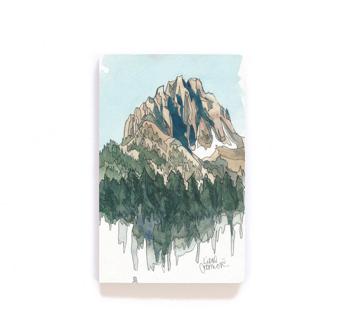 Drawing Mountains Layflat Notebook