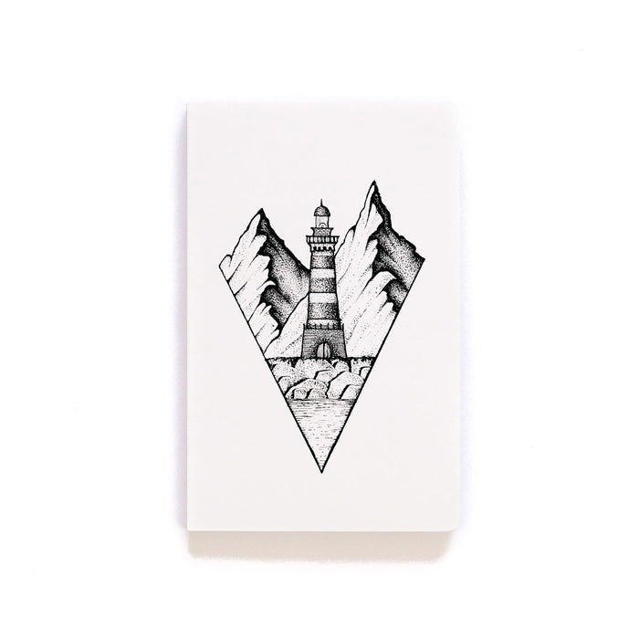 Mountain Lighthouse Softcover Notebook
