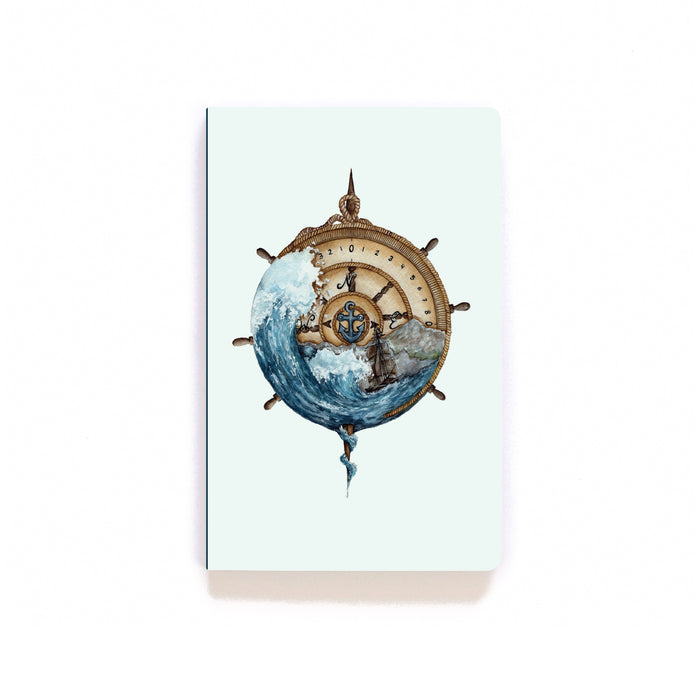 Nautical Compass Softcover Notebook