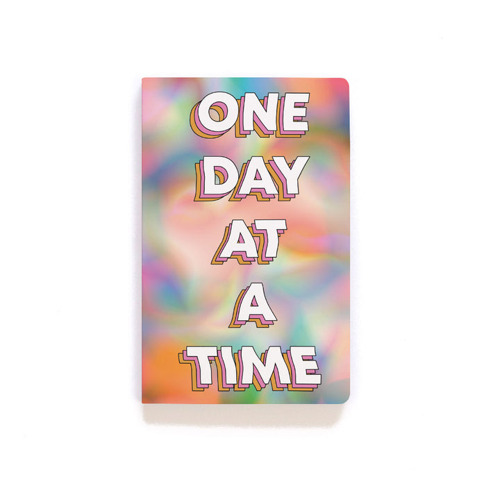 One Day At A Time Softcover Notebook