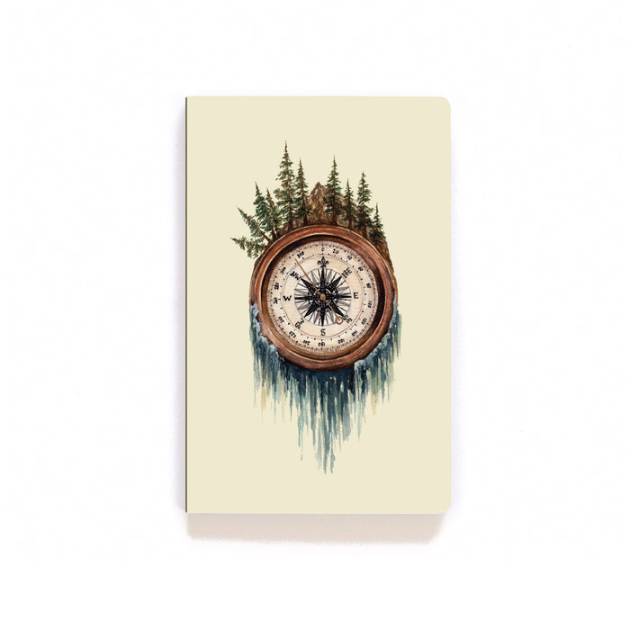 Pine Tree Compass Softcover Notebook