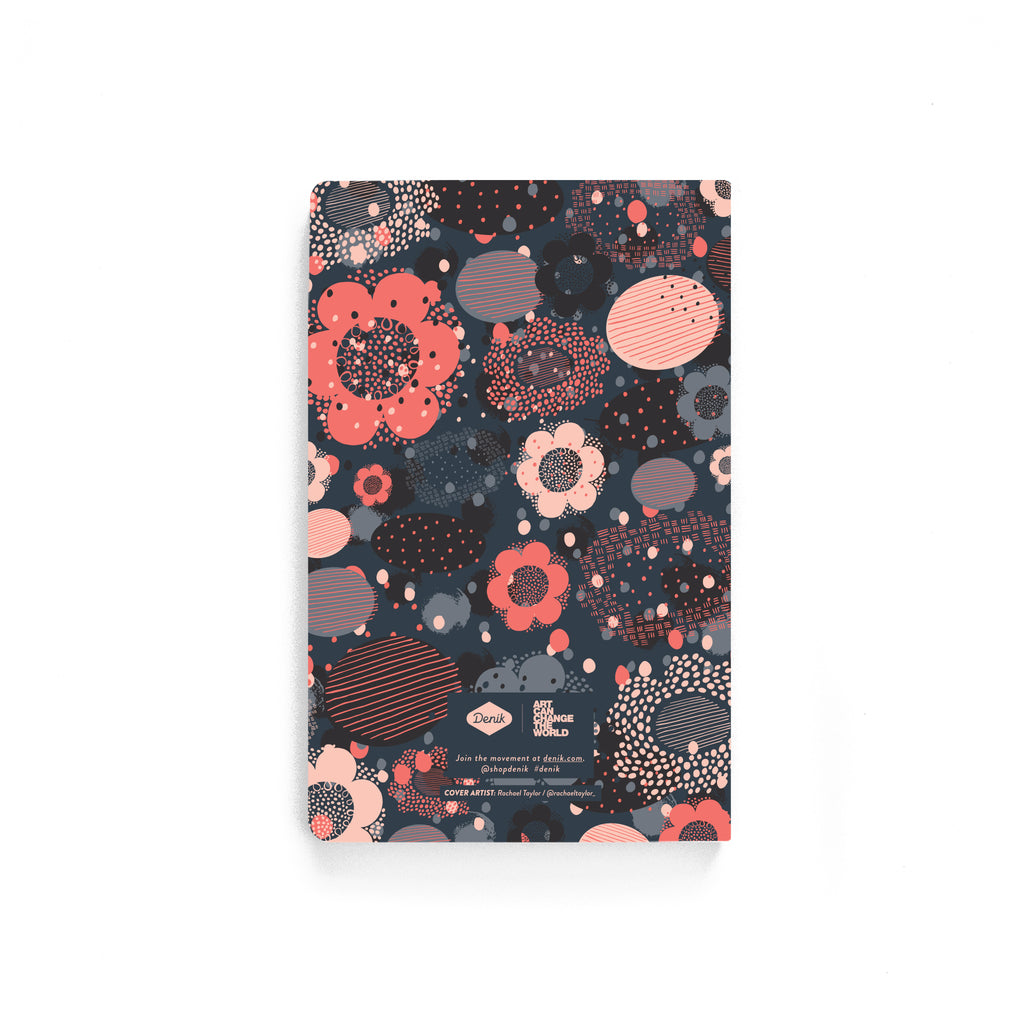 Geo Flowers Softcover Notebook