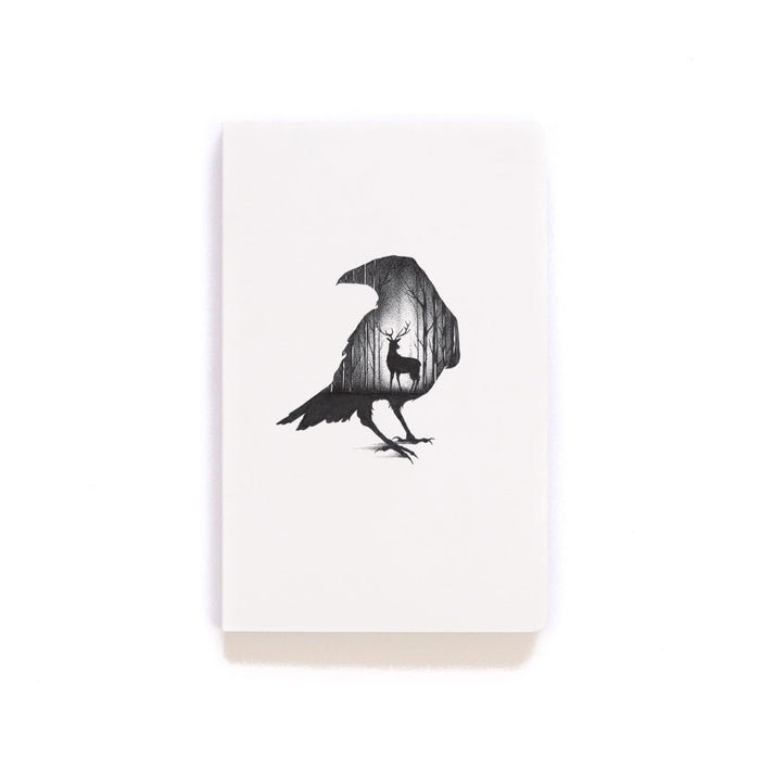 Deer & Raven Softcover Notebook
