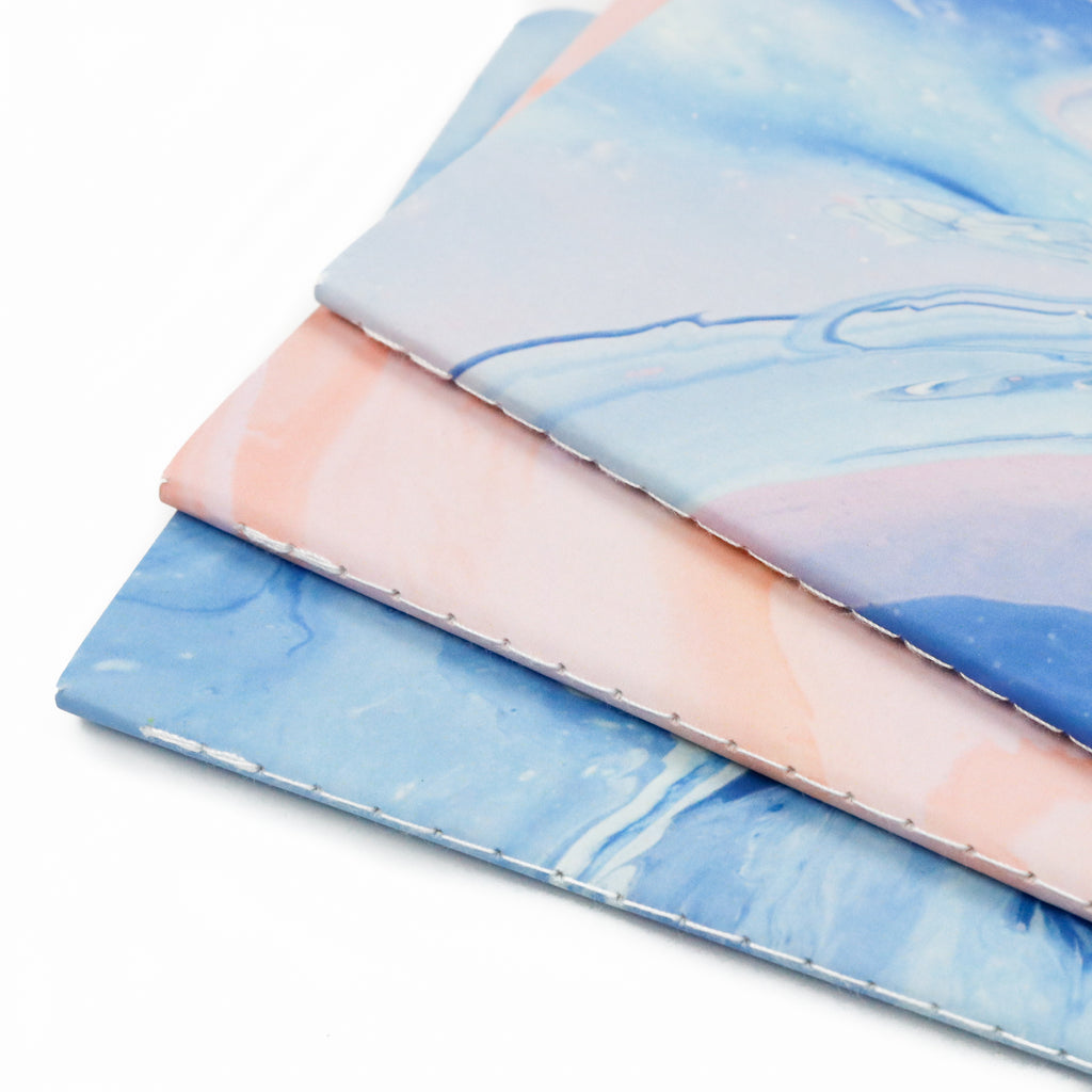 Marble Dreams Saddle Stitched Notebook 3-Pack