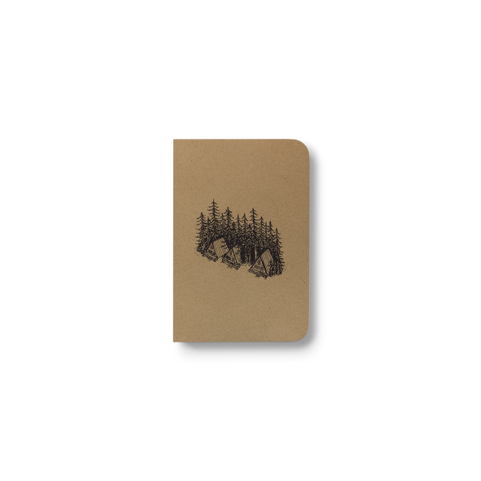 Pine Cabins - Kraft Pocket Notebook