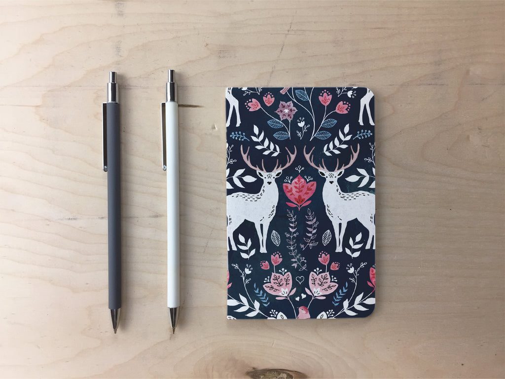 Scandinavian Deer Pocket Notebook