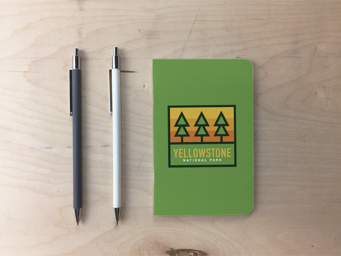 Yellowstone Trees Pocket Notebook