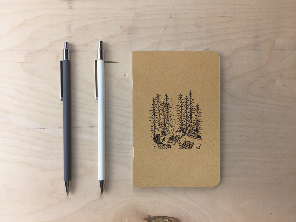 Canoe Camp - Kraft Pocket Notebook