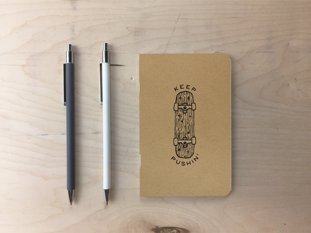 Keep Pushin' - Kraft Pocket Notebook