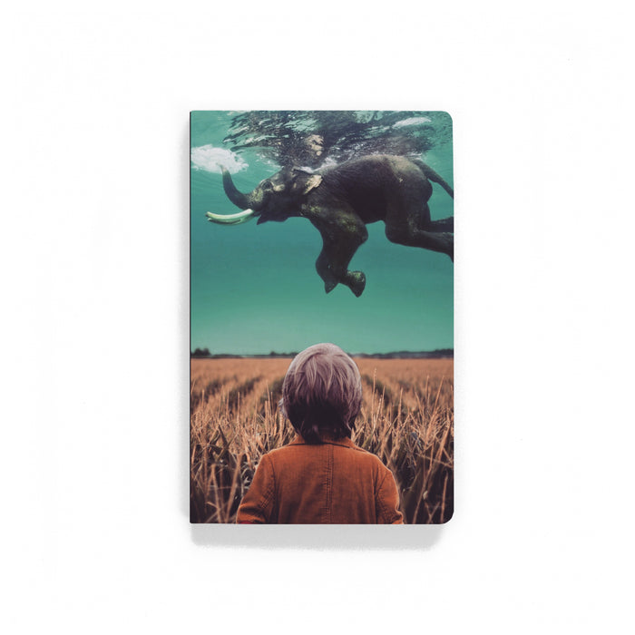 Swimming Elephant Softcover Notebook