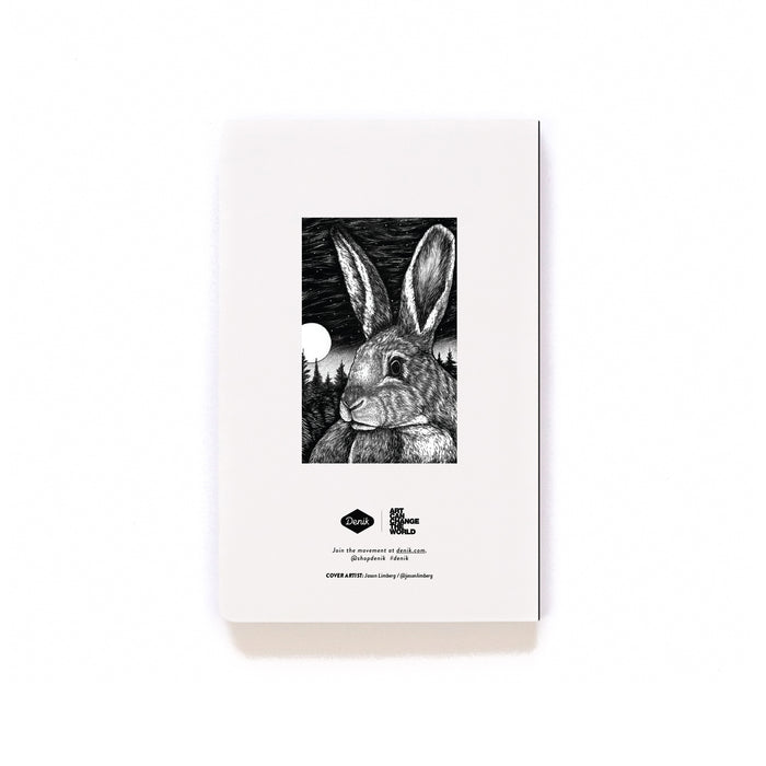 Stargazing Rabbit Softcover Notebook