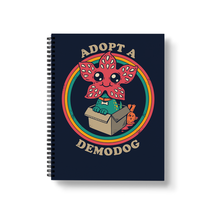Adopt a Demodog Large Wire-O Notebook