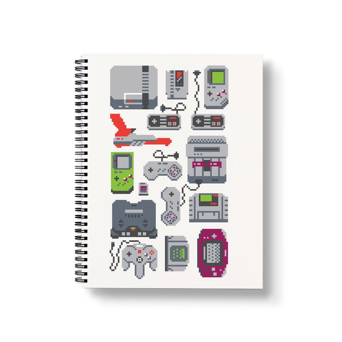 A Pixel of My Childhood Large Wire-O Notebook