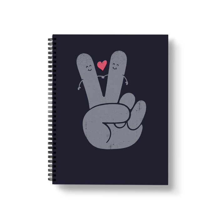Peace & Love Large Wire-O Notebook