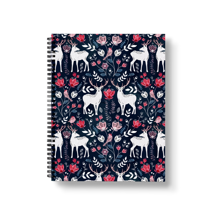 Scandinavian Deer Large Wire-O Notebook