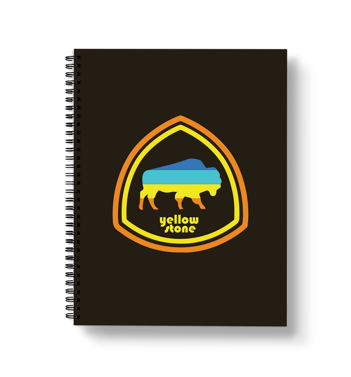 Yellowstone Bison Large Wire-O Notebook