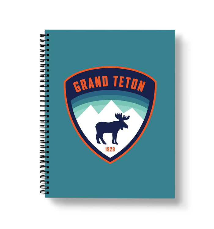 Grand Teton - Moose Large Wire-O Notebook