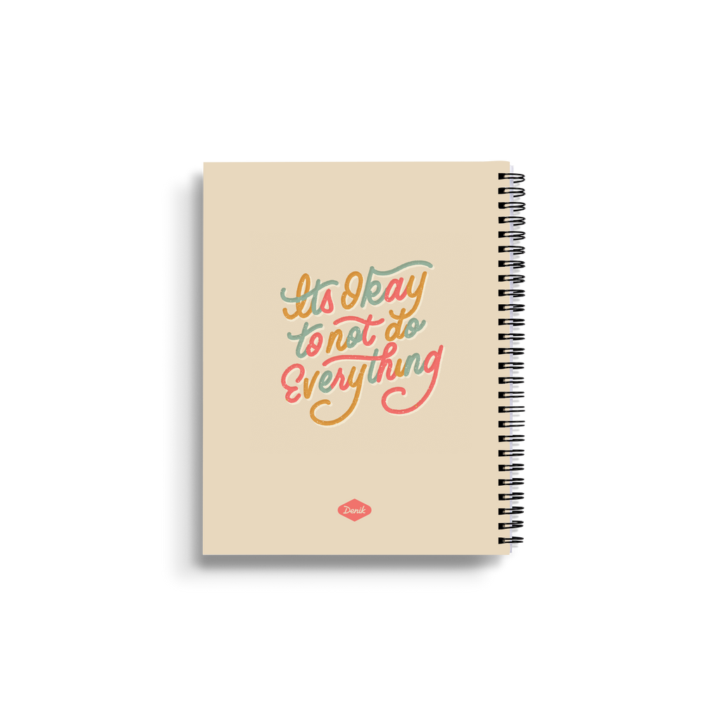 It's Okay To Not Do Everything Medium Wire-O Notebook