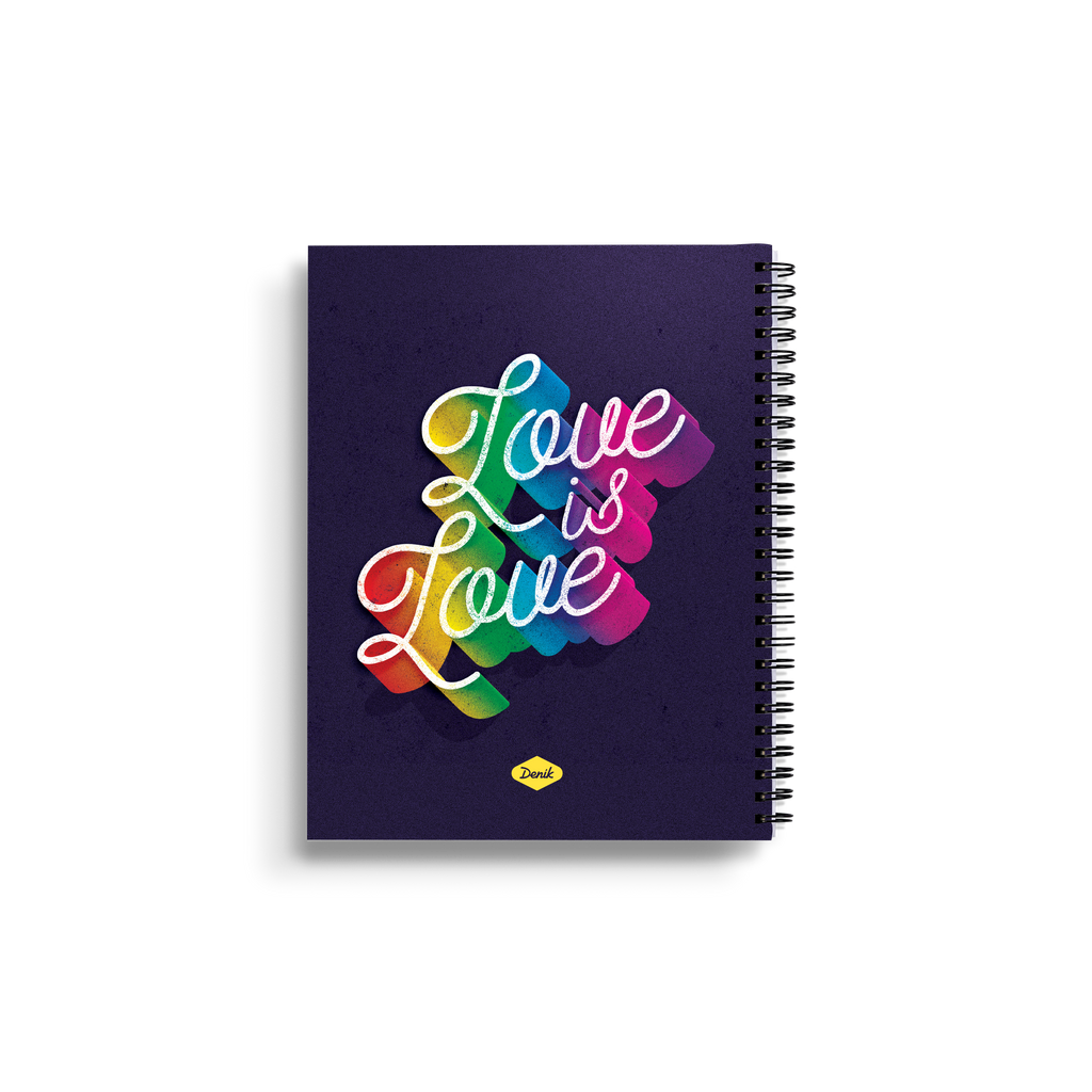 Love is Love Medium Wire-O Notebook
