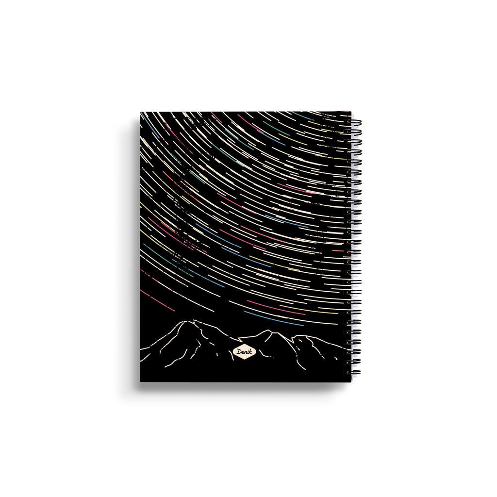 Star Trails Medium Wire-O Notebook