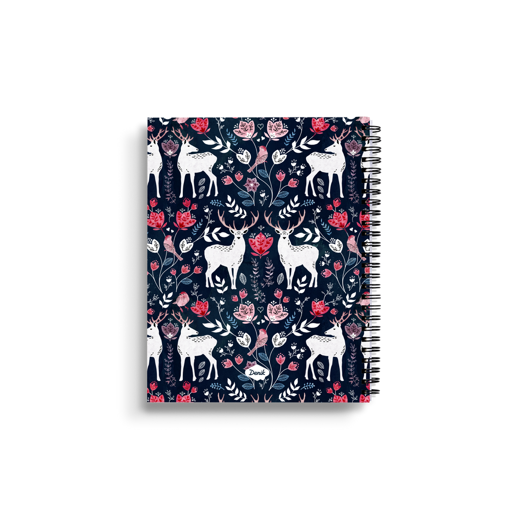 Scandinavian Deer Medium Wire-O Notebook