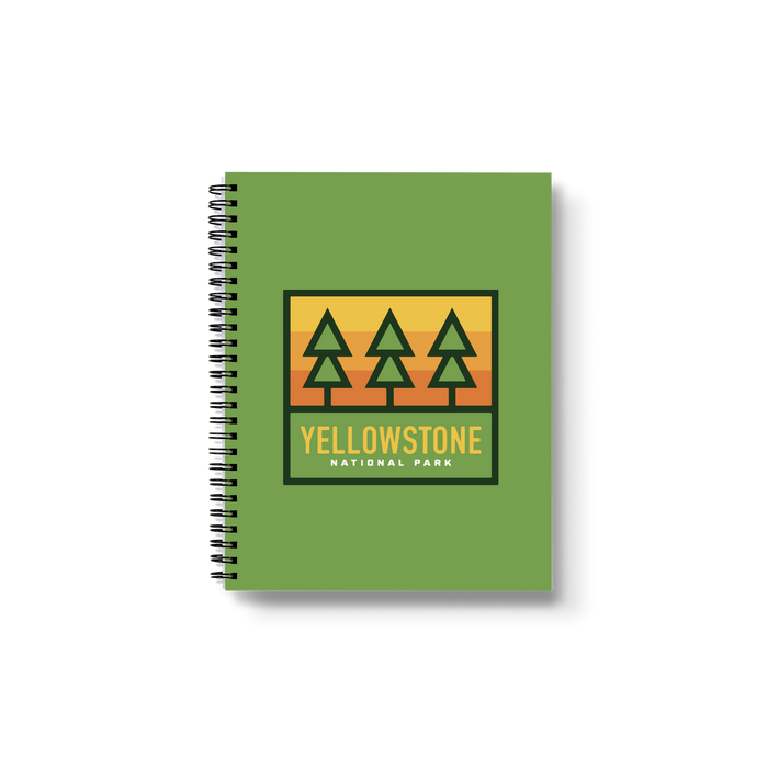 Yellowstone Trees Medium Wire-O Notebook