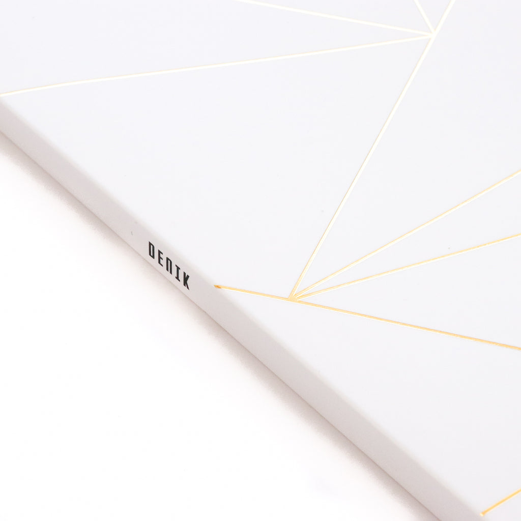 Geo White Notebook