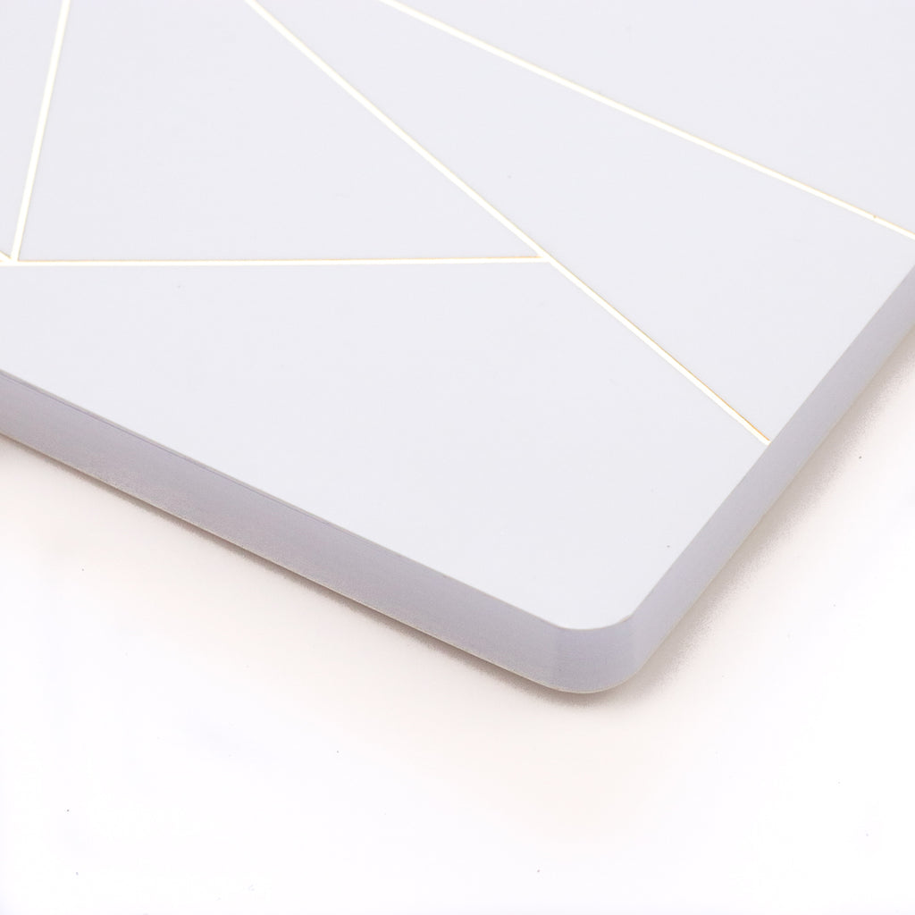 Geo White Layflat Notebook