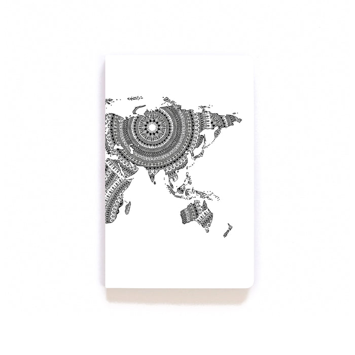 Mandala World Map Softcover Notebook