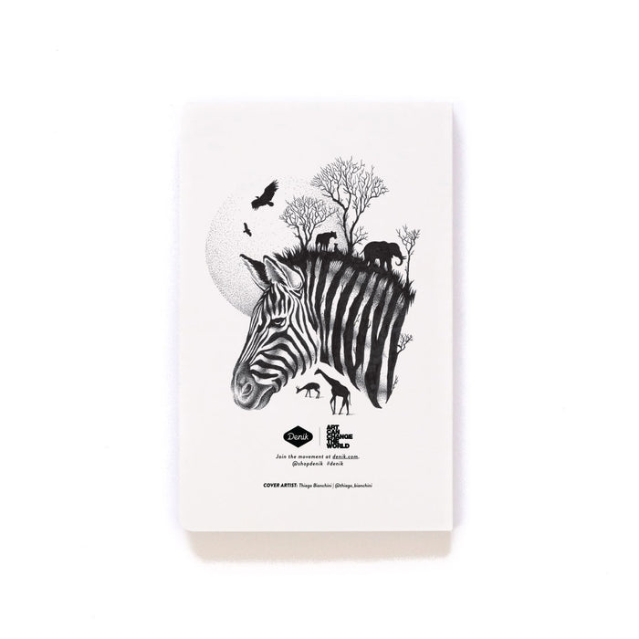 Zebra Softcover Notebook