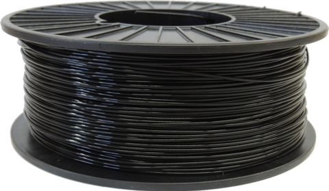 Black Precision 3D Printer Filament PLA 1.75mm 2.5LB Spool
