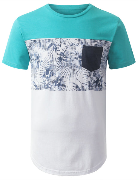 White Half Sleeve Light Blue Venom Long Tee