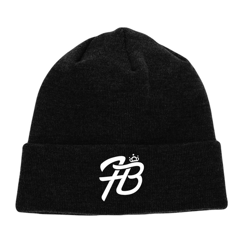 Holly Live: Beanie (Black Beanie, White Logo)