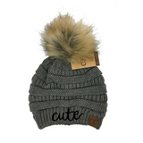 Ella: Cute Beanies / Fluffy Ball