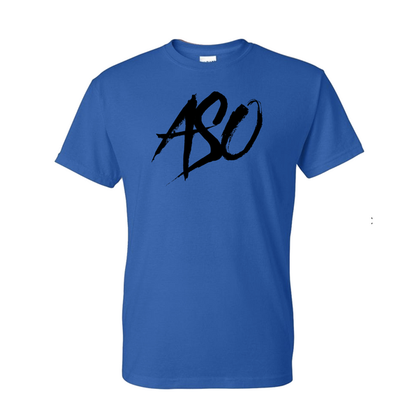 ASO Squad Blue T shirt Black Logo