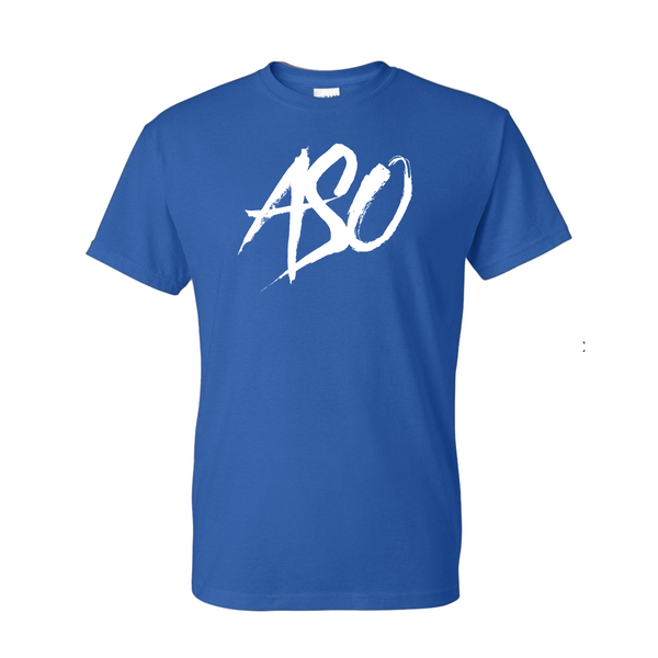 ASO Squad Blue T shirt White Logo