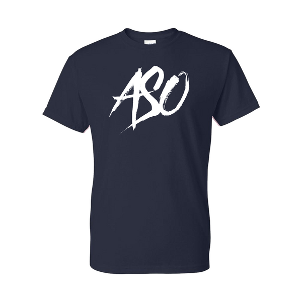 ASO Squad Navy Blue T shirt White Logo