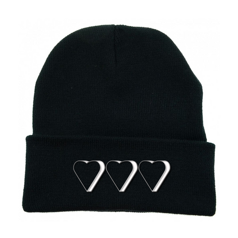 "Kennias Beauty ""Three Hearts"" Beanie (Multiple Colors)"
