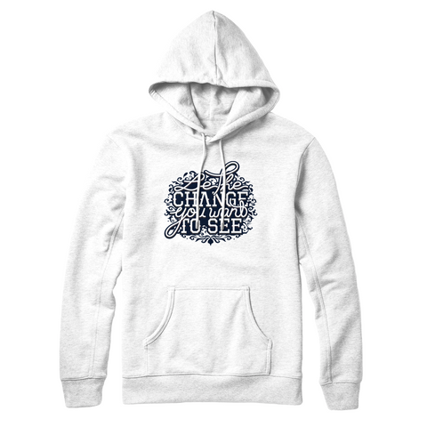 Youtubable | Be The Change You Want To See Hoodie ( White Hoodie )
