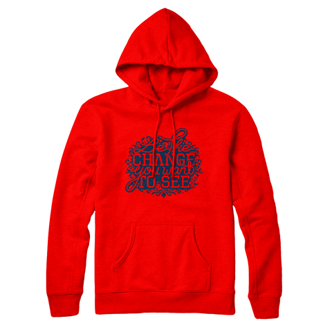 Youtubable | Be The Change You Want To See Hoodie ( Red Hoodie )